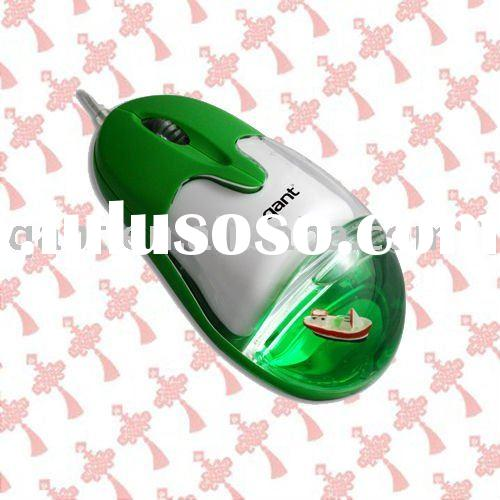 Wired optical cute mouse, 3D cute design, liquid mouse, with FCC, CE, RoHS