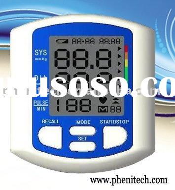 Wrist Style Digital Blood Pressure Monitor with big LCD display