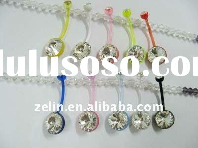 acrylic belly button ring body piercing jewelry