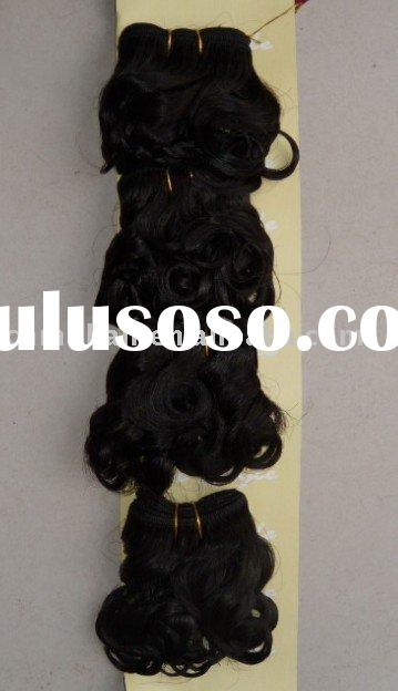 african wave style hair exensions , human hair weft