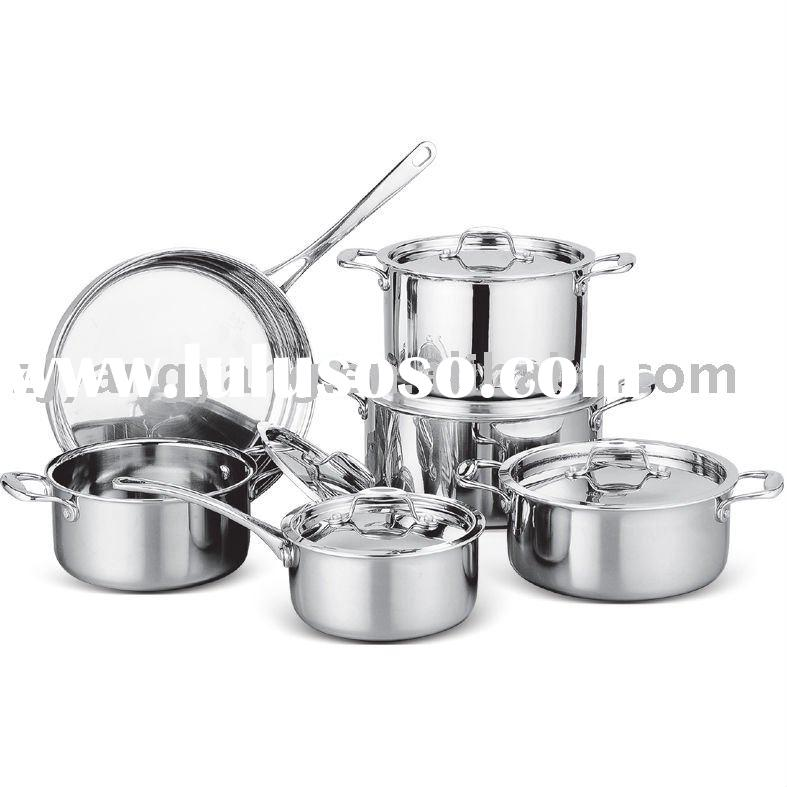 all clad chef's Tri-ply stainless steel cookware