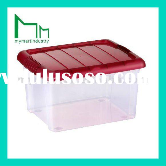 big top plastic storage box with red lid