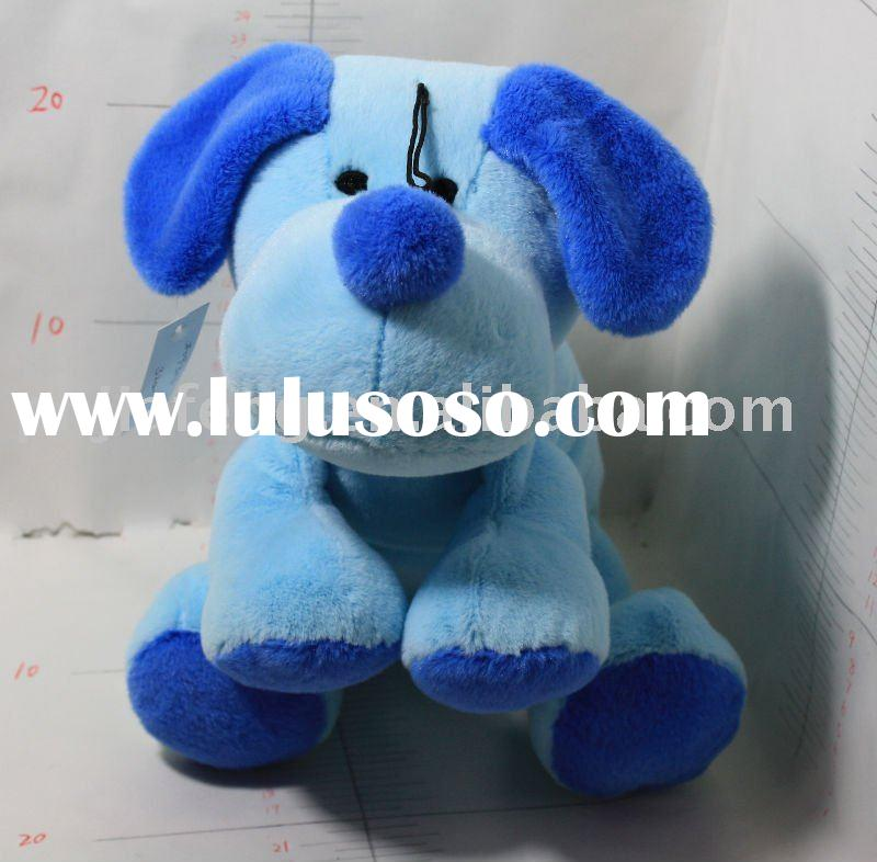 blue fashion plush stuffed dog toy
