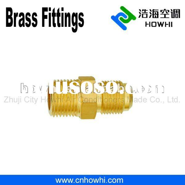 brass pipe fitting, 90 Degree Elbows, Half Union - Flare to NPTFE, for refrigeration and air conditi