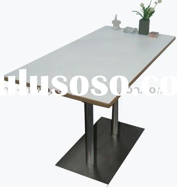 cafeteria stainless steel rectangle dining bar tables