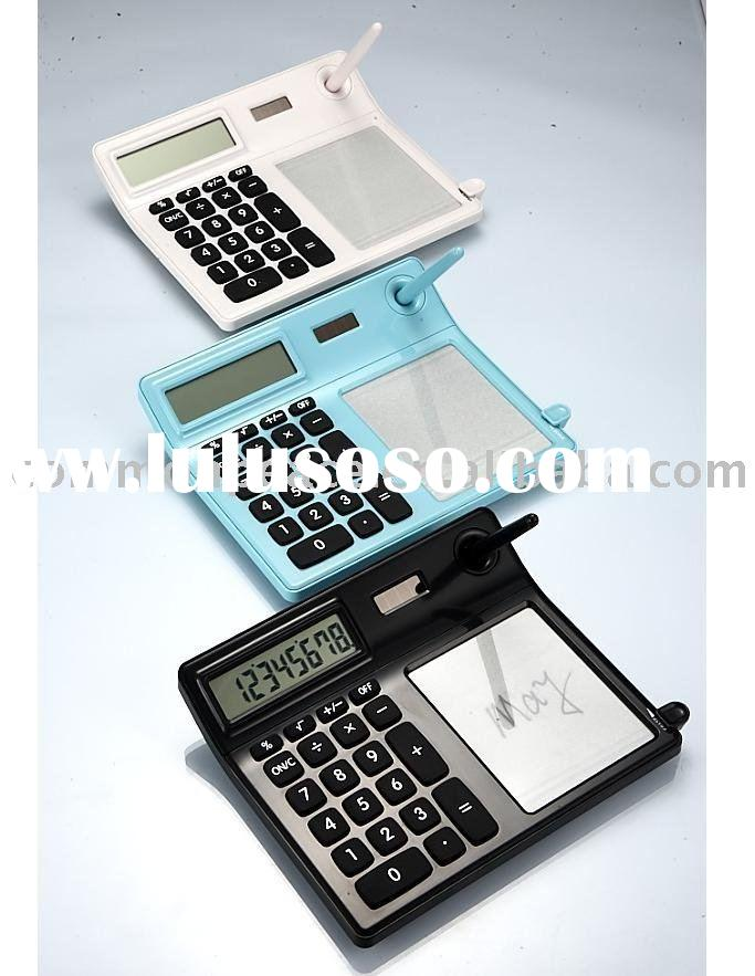 calculator with tablet