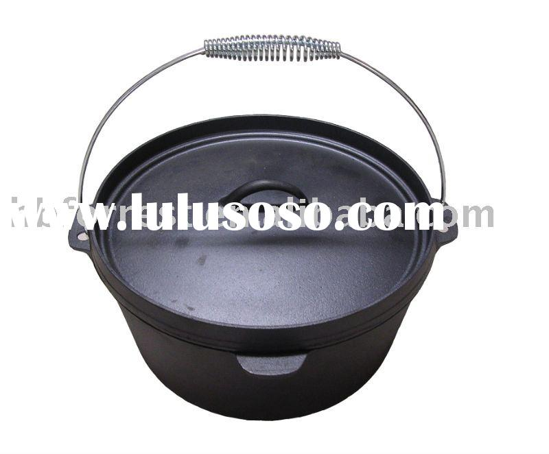 cast iron dutch oven, camping cookware