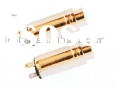 copper, ABS plastic, gold plated, OD 8.0 mm, headphone stereo audio jack socket, 3.5 dc jack socket,