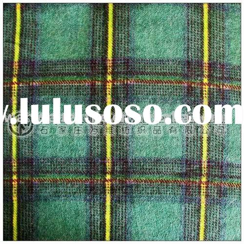 discount printed cotton flannel plaid shirt fabric