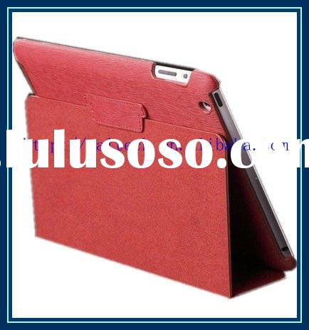 easy to carry leather cover for ipad 2 with stand