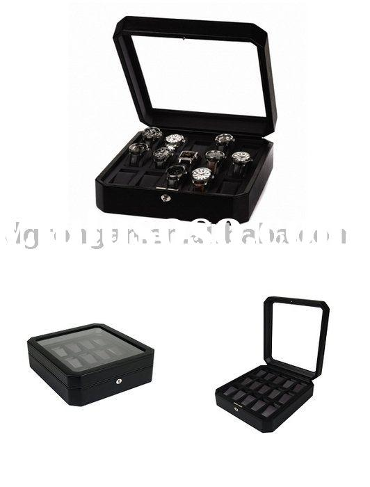 faux leather watch box,watches case D03-027