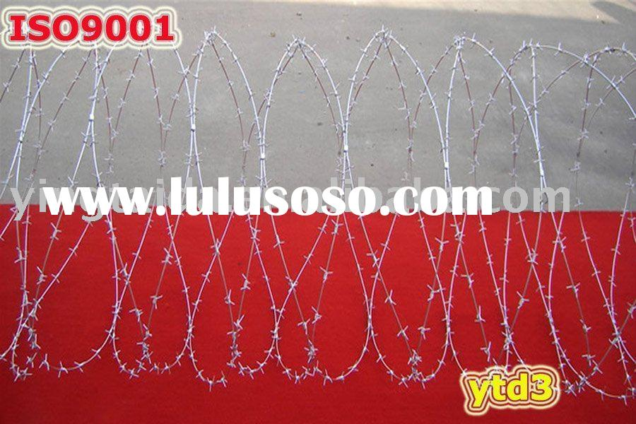 galvanized barbed wire/ concertina barbed wire(wire diameter:1.8mm--2mm--2.2mm--2.4mm--2.5mm--2.7mm-