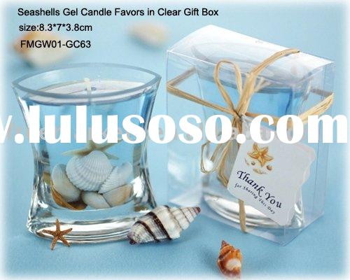gel candle making,Seashells gel candle favors,gift candle,holiday candle,wedding gifts,decorative ge