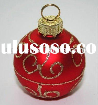 glass Christmas ball name table card holder assorted ornament