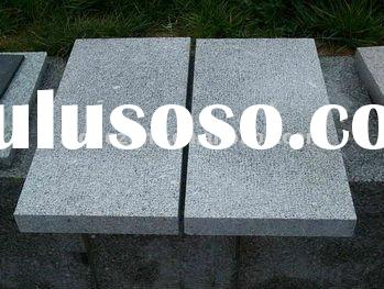 grey granite g603 bush hammered paving stone