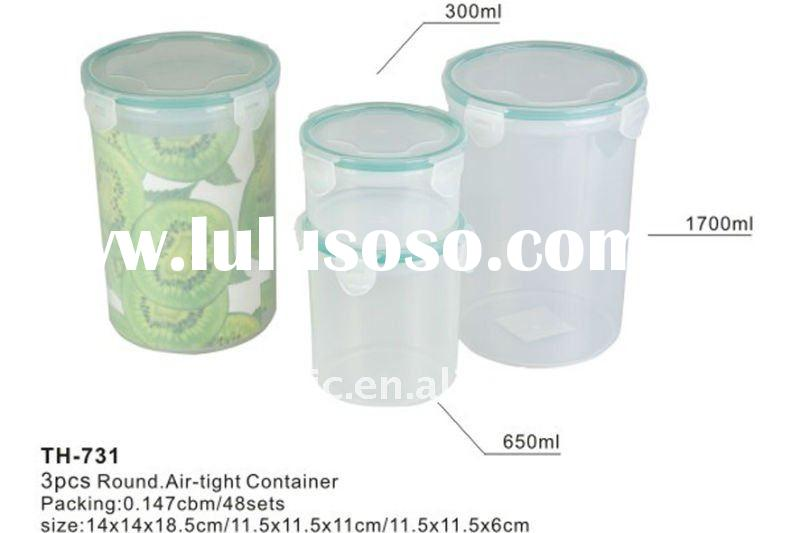 hot!promotion food grade plastic vacuum containers(th731)