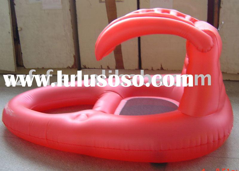 inflatable floating chair with sunshade,inflatable float lounger,inflatable pool chair