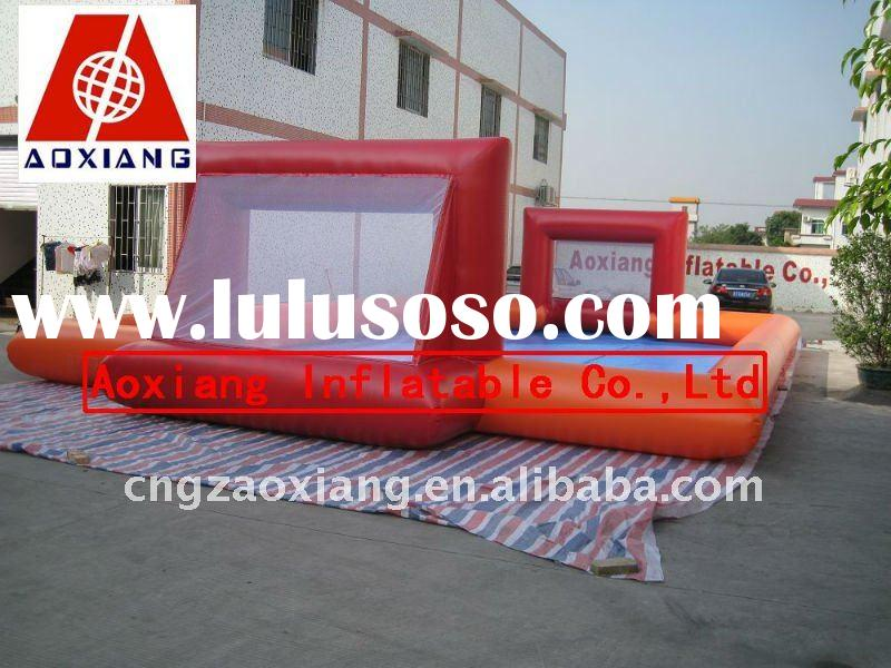 interesting orange inflatable soap Football field / Inflatable product