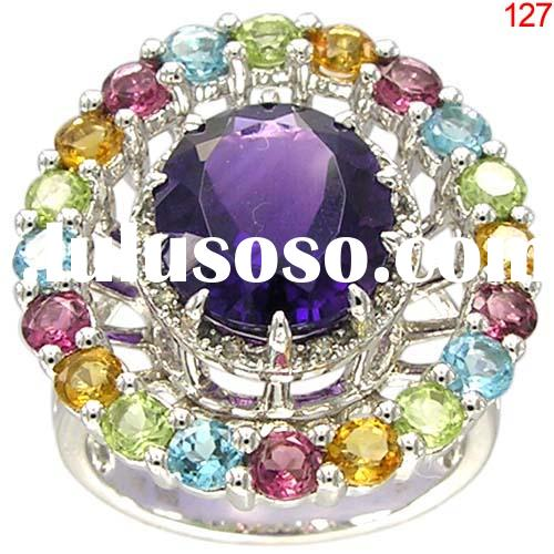 jewelry / fashion ring /multi-color gemstone ring