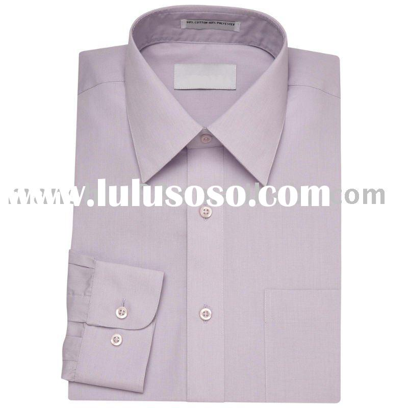 men's light purple T/C dress long sleeve fashion dress shirts