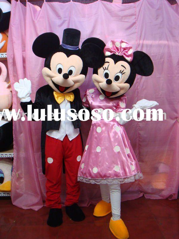 mickey mouse and minnie costume animal fur costume & character mickey and minnie costume with helmet and blower for sale ...