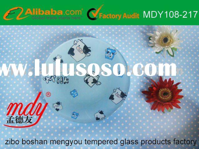 milk tempered glass plate