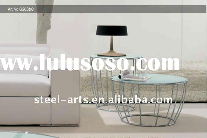 modern small round glass coffee table