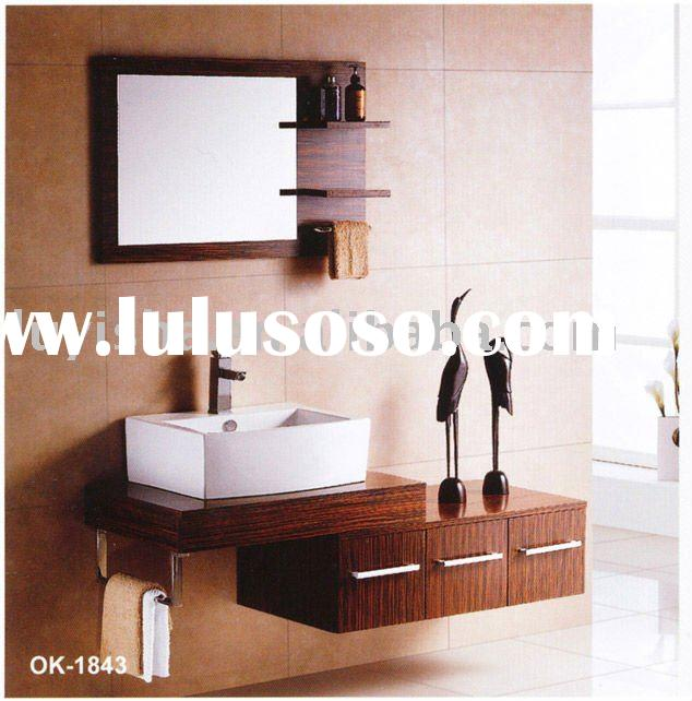 modern solid wood hotel bathroom vanity furnitureOK1843