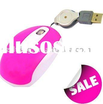 pink promotional exotic wired optical pc gift mouse