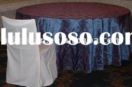 pintuck tablecloth and wedding flat back polyester chair covers