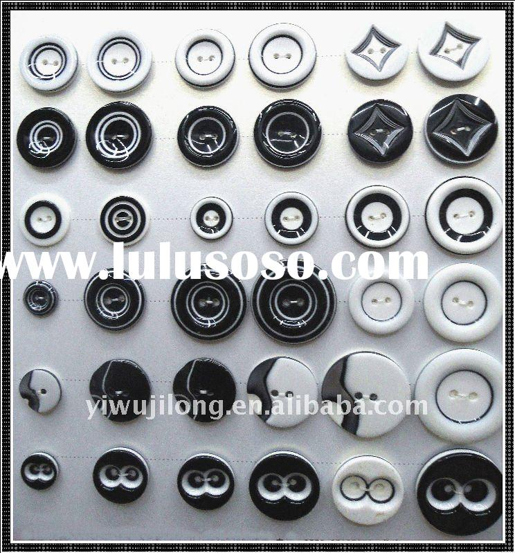 plastic resin buttons