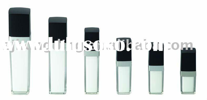 plastic square clear bottles