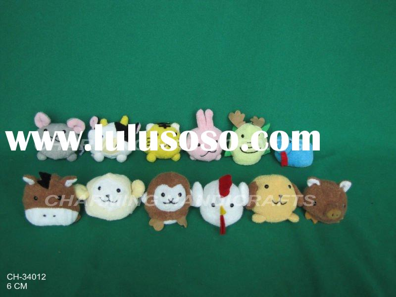 plush toy 12 Chinese zodiac animals, small plush animal toys
