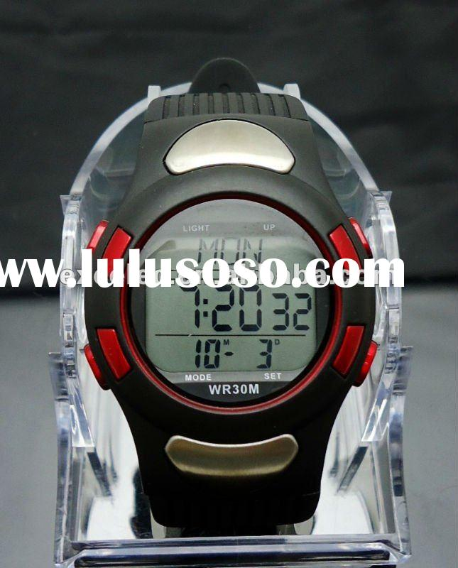 pulse watch with heart rate percentage display