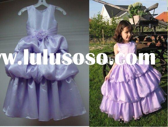 purple little princess Flower girl dress 1030