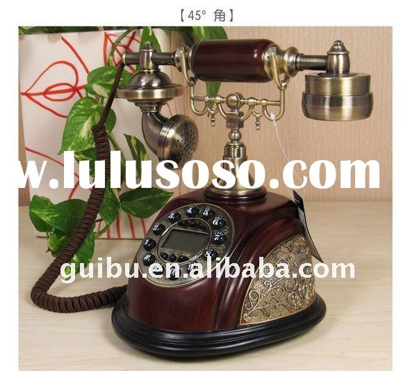 retro antique wooden landline phone telephone set for home decor