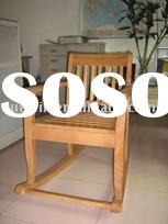 rubber wood rocking chair