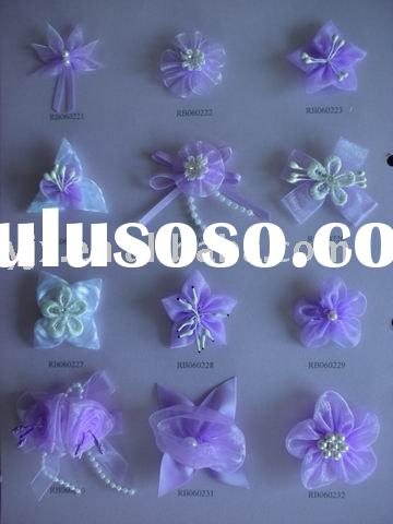 satin ribbon bow,artificial flower,girl's hair bow