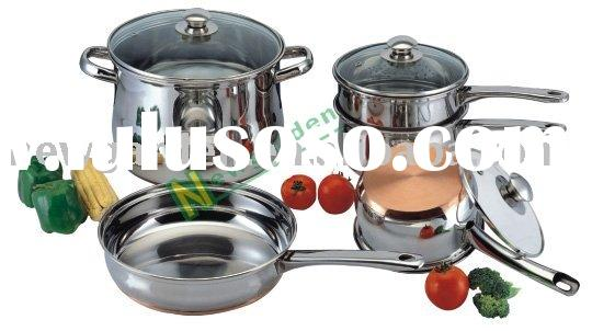stainless steel copper bottom cookware (SW0806)