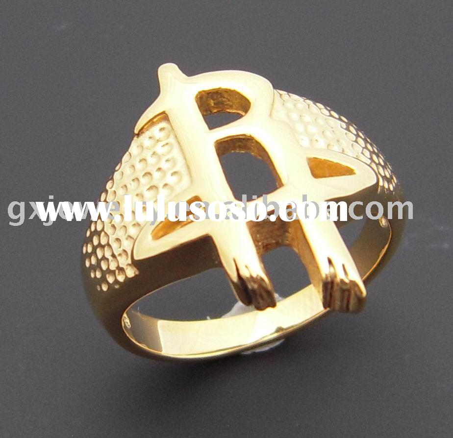 stainless steel jewelry/gold plating ring/casting ring
