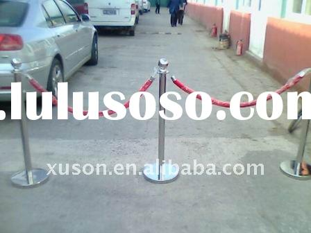 stainless steel traditional stanchion with ropes