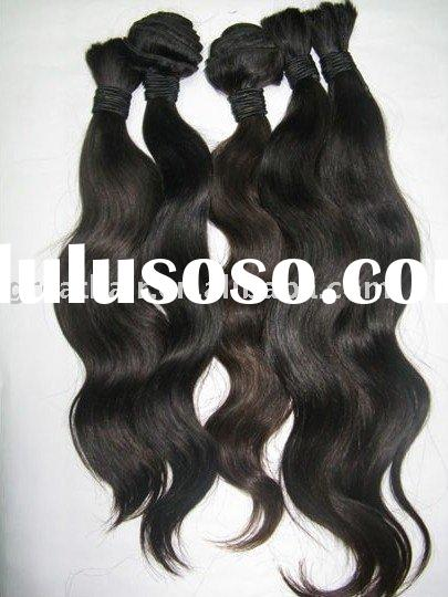 top quality machine made indian/brazilian remy human hair weave