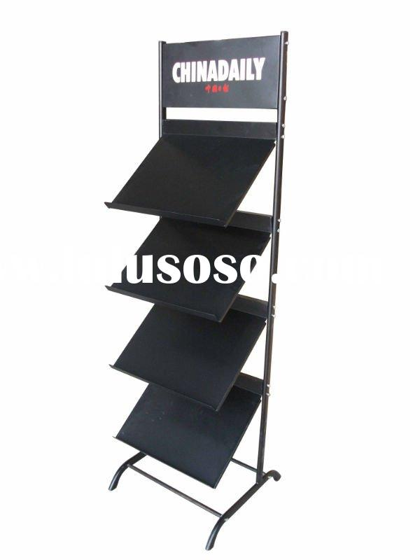 wall magazine rack metal