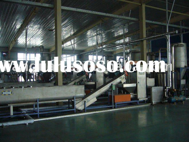 waste PET mineral water bottle and coca cola bottle washing and recycling machine and line and syste