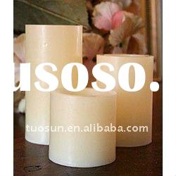white plain led flameless candle with timer