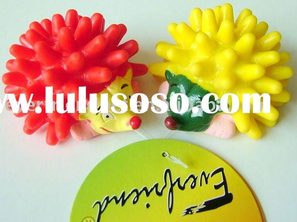 wholesale pet supplies-Everfriend 7.2cm red and yellow color Mini Hedgehog vinyl promotional toys fo