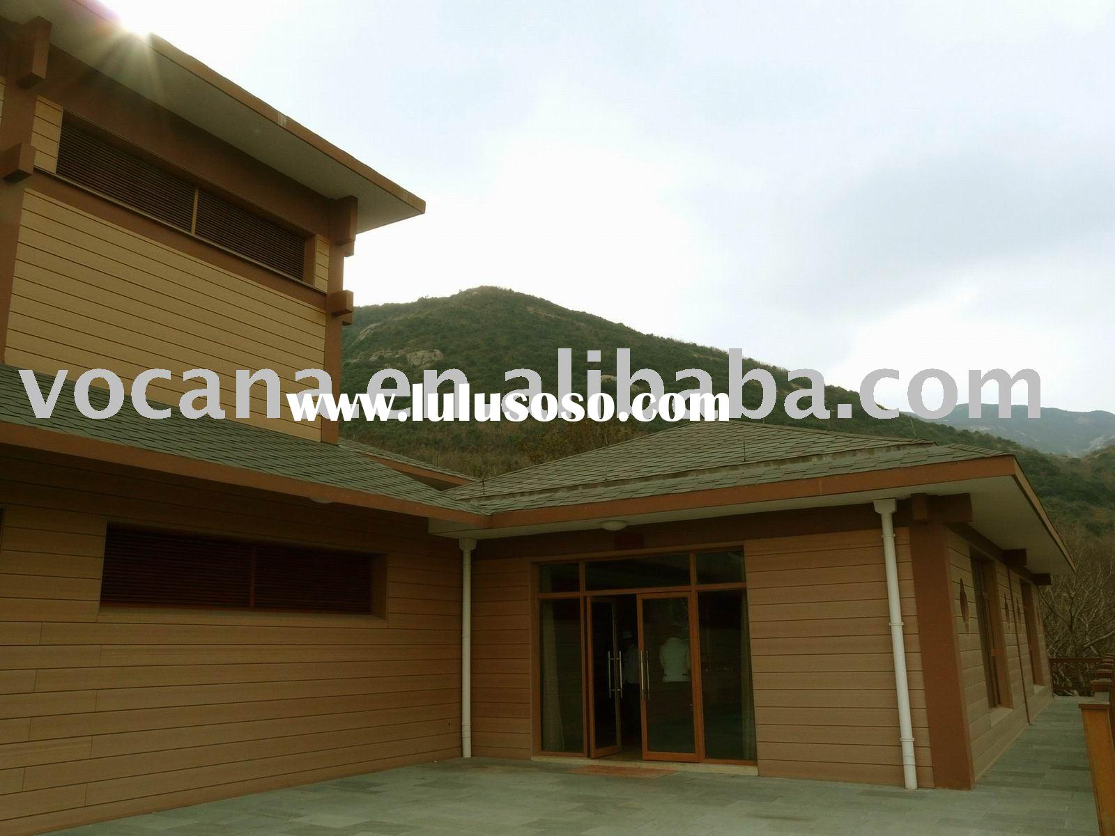 wood wall for villa (wood plastic composite wall panel)