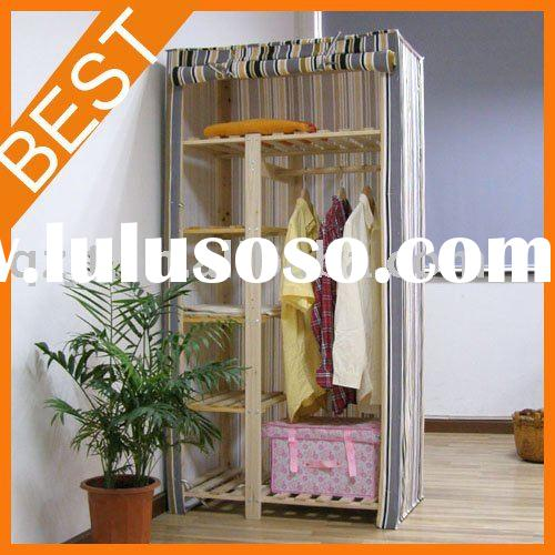 wooden clothes wardrobe