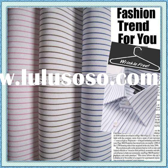 wrinkle free 100%cotton yarn dyed dress shirt fabric