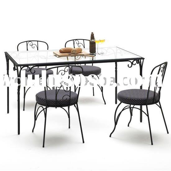 Wrought Iron Dining Chairs And Table For Sale